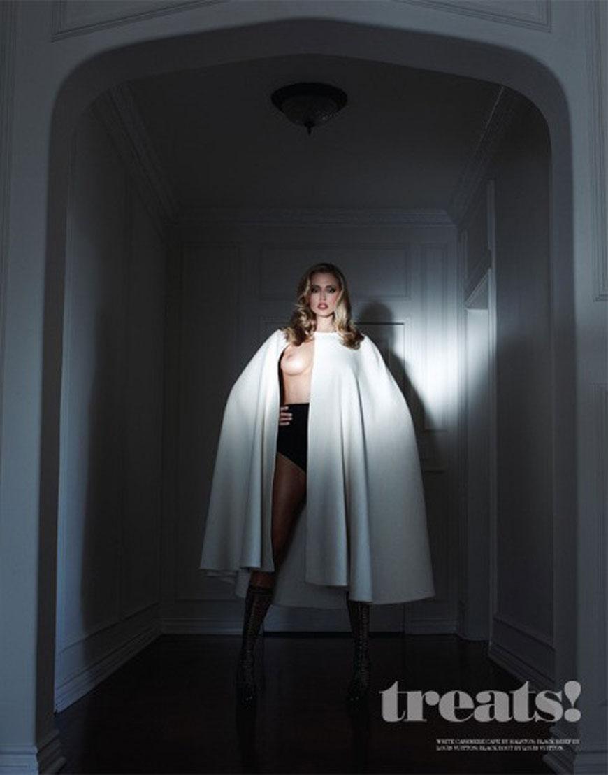 Diora Baird & Estella Warren - Treats Magazine Topless Photoshoot (2)