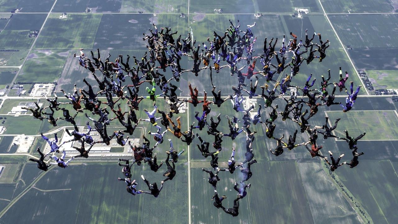 Record skydiven verbroken
