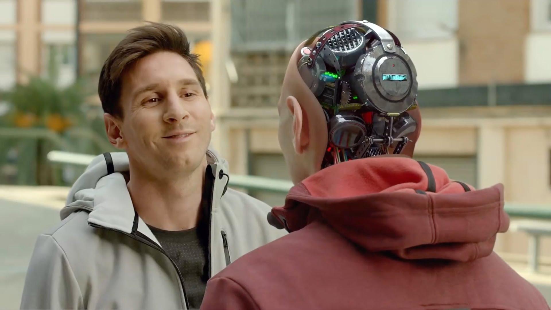 Messirobot in actie: commercial