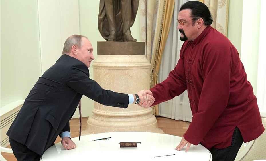 Poetin met Steven Seagal