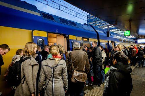 Trein op het station