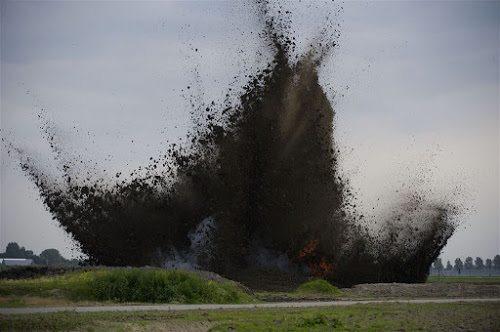 bom wordt tot ontploffing gebracht