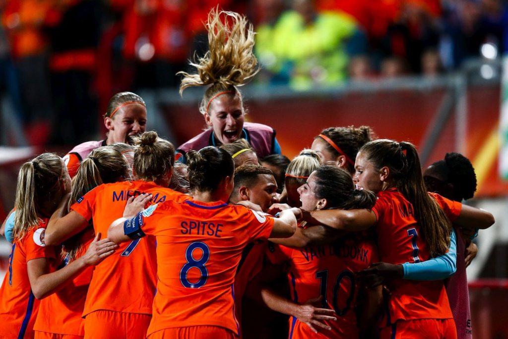 Oranje vrouwen voetbal